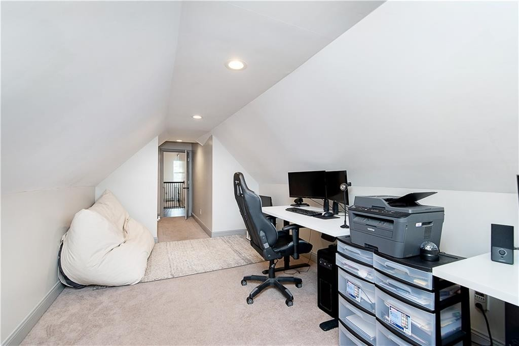Although staged as an office this 3rd bedroom does have wonderful space.